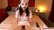 Young nurse cosplay girl with white tights loves masturbation of orgasm with sex toy. Amateur Asian with hairy pussy and beautiful tits wears pantyhose. Sakura 16 OSAKAPORN
