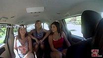 GIRLS GONE WILD - In A Cab Game Show With Three Young Babes Vorschaubild