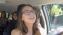 GIRLS GONE WILD - In A Cab Game Show With Three Young Babes