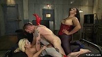 Babe and male and shemale threesome fuck