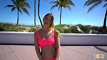 YNGR - Hot Blonde Teen Gets Picked Up By The Beach
