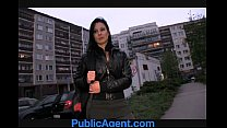 PublicAgent Krystina bends over for a wallet full of cash