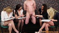 CFNM femdoms humiliating ballgagged dude - 69VClub.Com