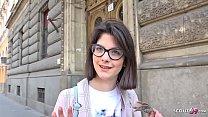 GERMAN SCOUT - 18 Jahre junge Studentin Sara AO Anal gefickt bei echten Casting nach der Uni Vorschaubild
