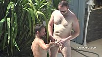 twink fucked bareback and breeded in jockstrap by daddy mature for crunchboy