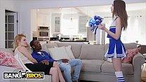 BANGBROS - Cheerleader Riley Reid Rides Her Mom's Boyfriend's Big Black Dick thumbnail
