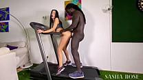 Big black man fucked me on a treadmill !!!! Cre...