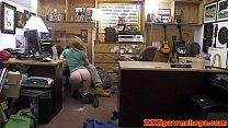 Bigtits pawnee facialized by pawnshop broker