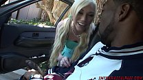netvideogirls streaming   blonde slut takes huge black cock thumbnail