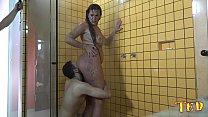 Suruba no vestiário durante o banho - Melissa Devassa - Rafaella Denardin - Victor Hugo - Alex Santo Ab