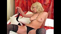 Blonde masturbates in thigh highs and high heels Preview