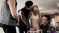 Petite teen girlfriend Piper Perri went to her boyfriends house and ended up having an orgy with her boyfriends clasmmates.