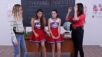 Tiny Cheerleaders In Trouble - Brooke Haze and Sami Parker