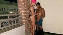 Sexy Balcony sex with jasmine banks thumbnail