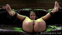 Blindfolded babe Jasmine Caro in bdsm rough fucked on couch (Join Now! EasyFuck.org)