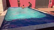Novinhos e Novinha Bathing in the PJTX House Pool @ Alerquina PJT X @ Renan Martins Pantaneiro