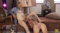 OLD4K. Kind grey-haired teacher makes sweet love to tender creature Shanie Ryan