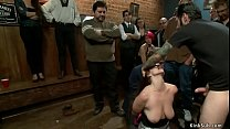 15956 Busty redhead toyed in public disgrace preview