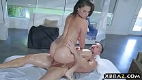 Massage exam performed on busty pornstar babe Peta Jensen