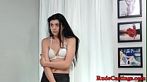 Real teen with roundass at b. casting