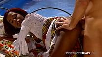 PrivateBlack - Stacked Mulata Madelin Crox Milks A Tourist Poolside!