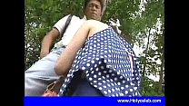 Japanese girl blowjob for money in public place Image