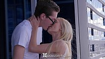 PASSION-HD Blonde Alex Grey fucked in a high rise with facial Image