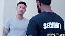 Black gay security fucks the suspect - interracial gay sex