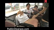 Hot public sex scene on the bus! - Hardcore sex
