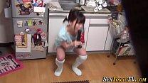 Japanese teen toying