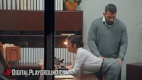 Busty (Alexis Fawx) fucking her boss in the off...