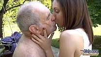 Grandpa fucks young pussy so tight and wet ready for cum