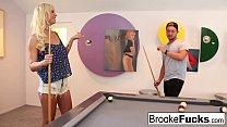 Brooke plays sexy billiards with Vans balls