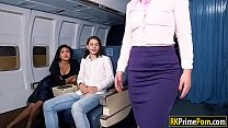 Flight attendant Nikki fucks passenger pornhub video