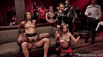 Hot servants fucked at orgy bdsm party
