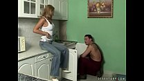 Hot MILF fucks the young repairman