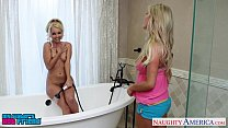 Blonde sirens Aaliyah Love and Tasha Reigh share cock {dad fuck video} thumbnail