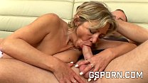 Sexy old milf fucked by young hard cock