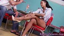Ebony babes feet spunked