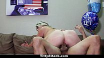 TittyAttack - Busty Sunny Hart Celebrates The 4th Of July! thumbnail