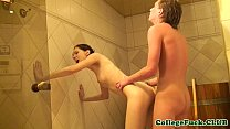 Skinny college teen pussyfucked at party thumbnail