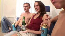 Russian threesome drunk