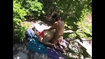 Hidden Cam Caught Milf Having Sex Outside & Getting Cumshot On Back