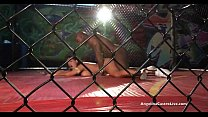 Angelina Castro takes on Nat Turnher Big cock in a Fighting cage! Preview