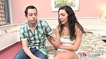 Years After, She Will Taste Her First Cock In Front Of Her Jealous Boyfriend, cheating impregnation thumbnail