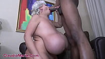 Black Bull Measures Claudia Marie Huge Cow Ass And Tits Then Gives Creampie