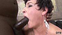 Granny Hardcore fucked by black man in her tight ass loves anal sex image