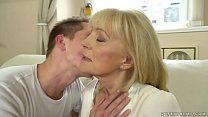 Image: Old lady enjoys deep fuck with her younger lover