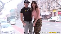 Euro babe pussy fucked in public truck