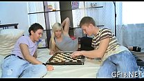 Sweet-looking legal age teenager gal takes hard schlong